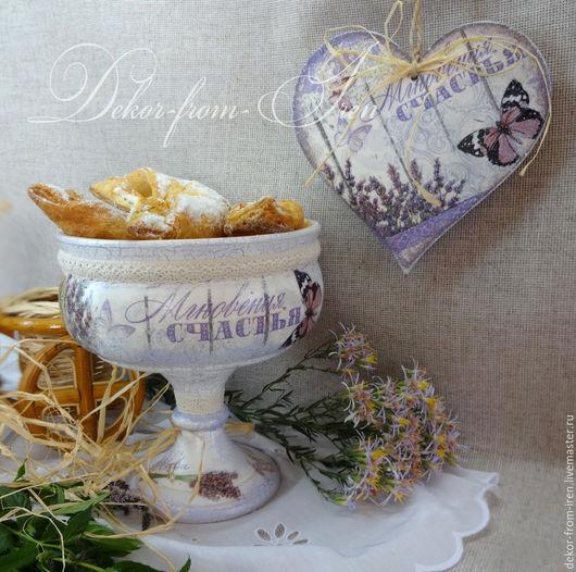 подарки ручной работы хлебница-сухарница ручной работы хлебница в стиле Прованс ручная работа конфетница в подарок