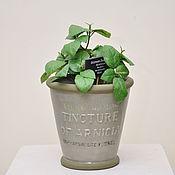 Цветы и флористика handmade. Livemaster - original item Flower pot is made of concrete with surround inscription. Handmade.