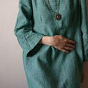 """Одежда ручной работы. Ярмарка Мастеров - ручная работа Платье льняное """"  Mint"""". Handmade."""