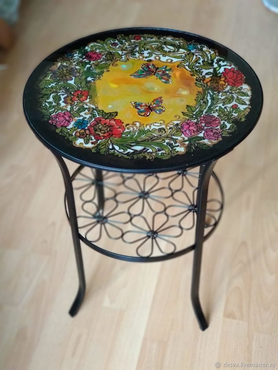 Coffee table with glass top ' garden of Eden', Tables, Moscow,  Фото №1