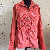 Винтаж handmade. Livemaster - original item Italy. Vintage blouse Elisa Cavaletti 97% cotton .50 R.. Handmade.