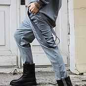 Одежда ручной работы. Ярмарка Мастеров - ручная работа Брюки Grey Fog. Handmade.