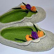 """Обувь ручной работы. Ярмарка Мастеров - ручная работа тапочки """" ... В окно повеяло весною.."""". Handmade."""