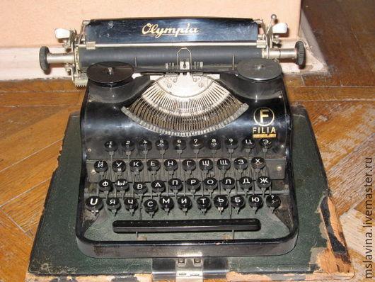 Винтажные предметы интерьера. Ярмарка Мастеров - ручная работа. Купить Пишущая машинка Olympia, антикварная, ретро,. Handmade. Винтаж и ретро
