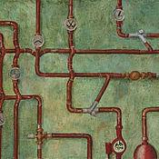Картины и панно ручной работы. Ярмарка Мастеров - ручная работа Картина маслом Бойлерная. Handmade.
