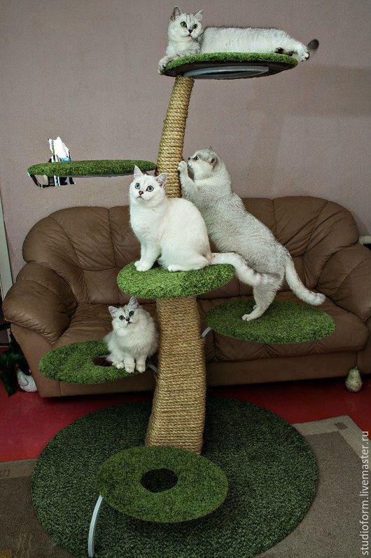 Аксессуары для кошек, ручной работы. Ярмарка Мастеров - ручная работа. Купить Стойка для кошек. Handmade. Зеленый, стойка для кошек, металл