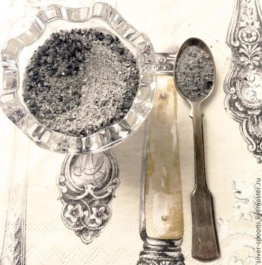 Серебряная ложка `Винтаж` для специй. Столовое серебро ручной работы. Предметы сервировки из серебра в стиле винтаж. Подарок на свадьбу. Подарок молодоженам. Свадебный подарок. Подарок на новоселье