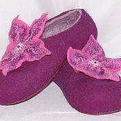 Обувь ручной работы. Ярмарка Мастеров - ручная работа Тапочки с цветочком. Handmade.