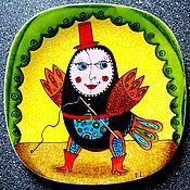 """Картины и панно ручной работы. Ярмарка Мастеров - ручная работа Авторская декоративная тарелка""""Сирена"""". Handmade."""