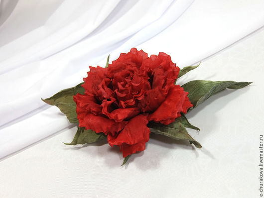 Цветы ручной работы. Ярмарка Мастеров - ручная работа. Купить Цветы из шелка. Цветы из ткани. Роза Кармен.. Handmade.