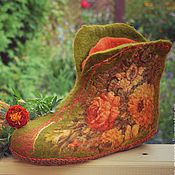 """Обувь ручной работы. Ярмарка Мастеров - ручная работа Чуни """"Краски осени"""". Handmade."""