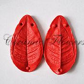 Материалы для творчества handmade. Livemaster - original item Silicone mold (Weiner) sheet poinsettias,bilateral. Handmade.