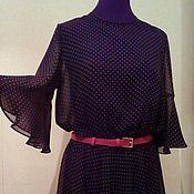 Одежда ручной работы. Ярмарка Мастеров - ручная работа Шелковое платье с воланами. Handmade.