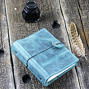 Канцелярские товары handmade. Livemaster - original item Leather notebook with pockets with replaceable sheets. Handmade.
