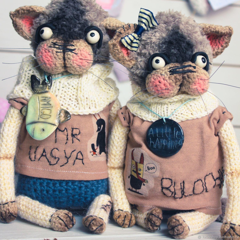 Котейки : Вася и Булочка, Мягкие игрушки, Благовещенск,  Фото №1