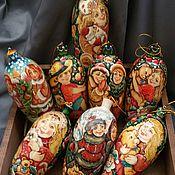Подарки к праздникам ручной работы. Ярмарка Мастеров - ручная работа Новогодние шишки в старославянском стиле. Handmade.