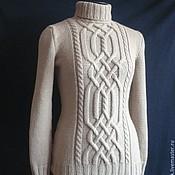 Одежда handmade. Livemaster - original item Women`s sweater with braids knitting a Bright twilight. Handmade.