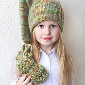 """Работы для детей, ручной работы. Ярмарка Мастеров - ручная работа Шапка-колпак """"Привет из хвойного леса"""". Handmade."""