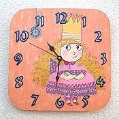 Для дома и интерьера handmade. Livemaster - original item Children`s wall clock Princess wall clock handmade. Handmade.