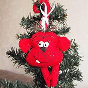 Куклы и игрушки ручной работы. Ярмарка Мастеров - ручная работа Красная обезьяна. Handmade.