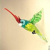 Подарки к праздникам handmade. Livemaster - original item Hanging figurine made of colored glass Bird Cockatoo Chiacchierone. Handmade.