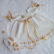 """Работы для детей, ручной работы. Ярмарка Мастеров - ручная работа Крестильное платье """"Мое золотко"""". Handmade."""