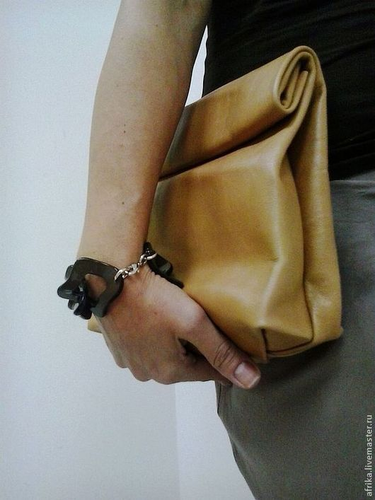 Женские сумки ручной работы. Ярмарка Мастеров - ручная работа. Купить Крафт Пакет из Кожи. Handmade. Крафт пакет