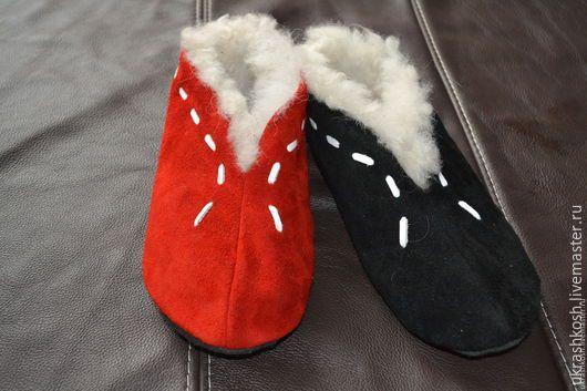 Обувь ручной работы. Ярмарка Мастеров - ручная работа. Купить Шубенки. Handmade. Ярко-красный, шубенки в подарок, шубенки для бабушки