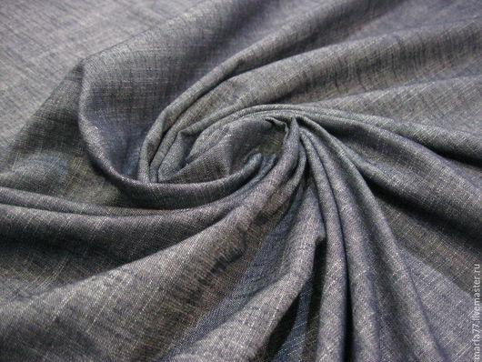 Шитье ручной работы. Ярмарка Мастеров - ручная работа. Купить Итальянская льняная джинсовка.. Handmade. Тёмно-синий, джинсовый лен
