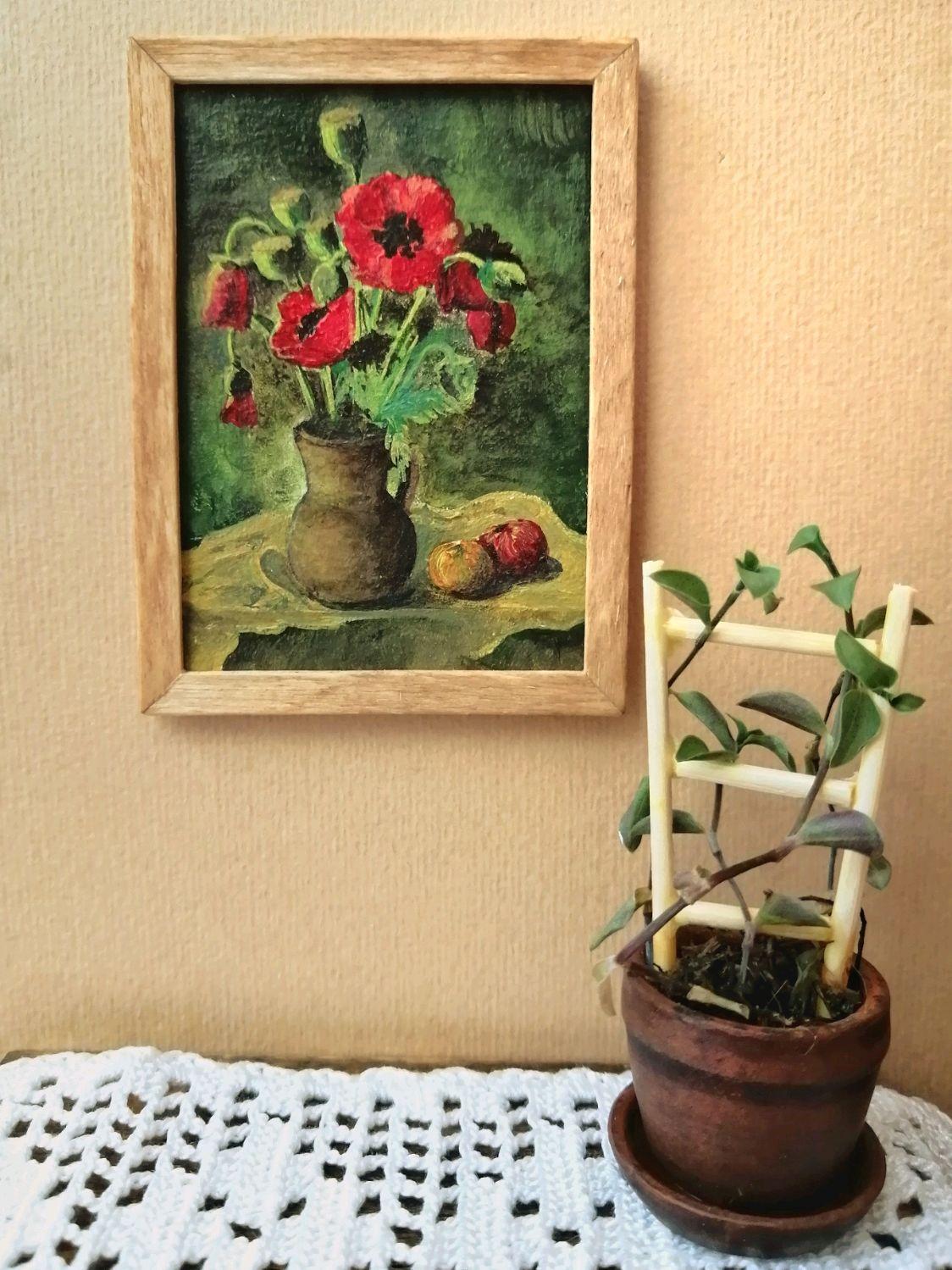 Картина интерьерная-/Кукольная миниатюра/, Мебель для кукол, Ставрополь,  Фото №1