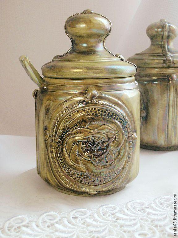 Saltcellar (sugar bowl) 'the Coil', Sugar Bowls, Shigony,  Фото №1