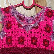 Работы для детей, ручной работы. Ярмарка Мастеров - ручная работа Платьице вязаное теплое для девочки. Handmade.