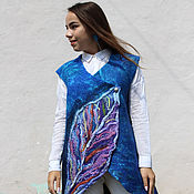Одежда handmade. Livemaster - original item Vest felted Sheet. Handmade.