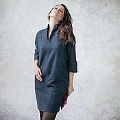 Одежда ручной работы. Ярмарка Мастеров - ручная работа Платье с карманами, серое. Handmade.
