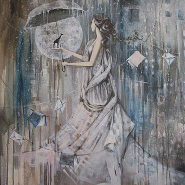 Картины и панно ручной работы. Ярмарка Мастеров - ручная работа Та, что дышит дождем. Handmade.