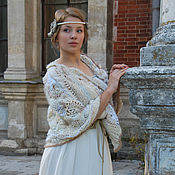 "Одежда handmade. Livemaster - original item Bolero-cape ""White Inflorescence"". Handmade."