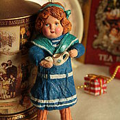 """Куклы и игрушки ручной работы. Ярмарка Мастеров - ручная работа ватная игрушка """"Девочка с лейкой"""". Handmade."""