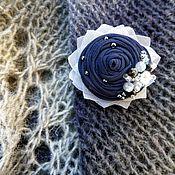 """Украшения ручной работы. Ярмарка Мастеров - ручная работа Брошь цветок из ткани """"Маленькая вселенная"""". Handmade."""