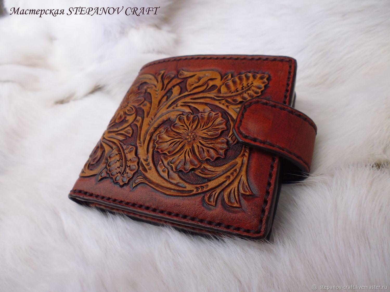 Leather sheridan style wallet, Wallets, Sergiev Posad,  Фото №1