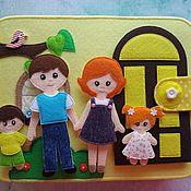 """Кукольные домики ручной работы. Ярмарка Мастеров - ручная работа Кукольный домик из фетра """"Большой дом"""" #2. Handmade."""