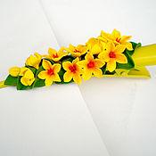 """Украшения ручной работы. Ярмарка Мастеров - ручная работа зажим для  """"Жёлтые цветы"""". Handmade."""