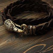 Украшения handmade. Livemaster - original item Leather bracelet - Raven. Handmade.