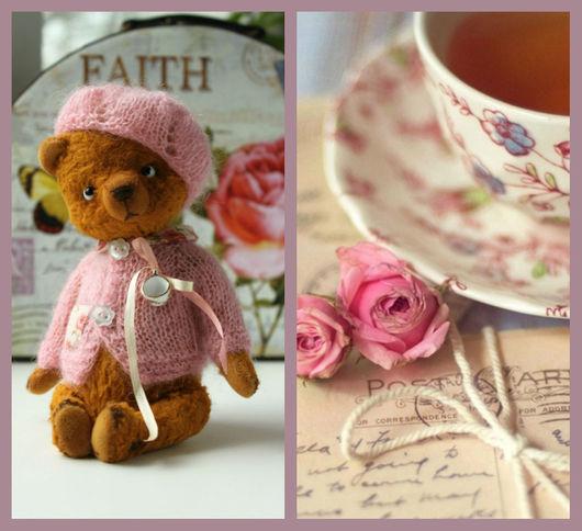 Мишки Тедди ручной работы. Ярмарка Мастеров - ручная работа. Купить Мишка Тедди Розовый чай. Handmade. Коричневый
