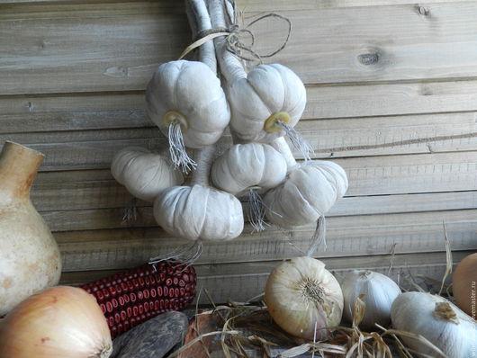 Кухня ручной работы. Ярмарка Мастеров - ручная работа. Купить Связка чеснока. Handmade. Белый, бабушкин сундук, подарок, хеллоуин