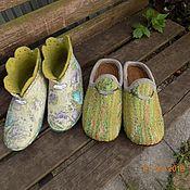 Обувь ручной работы. Ярмарка Мастеров - ручная работа Комплект тапочек. Handmade.