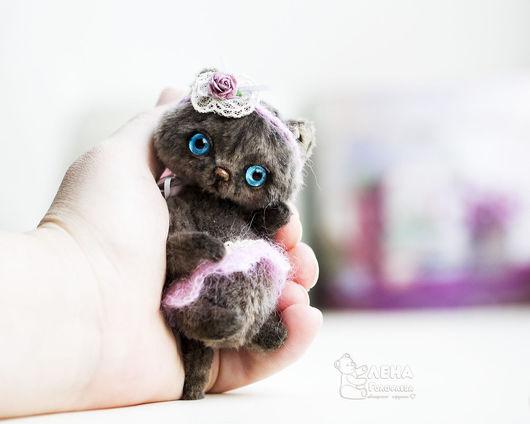 Мишки Тедди ручной работы. Ярмарка Мастеров - ручная работа. Купить Серый котенок. Handmade. Комбинированный, коты, елена голофаева