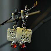 Украшения handmade. Livemaster - original item Earrings Silver Natural Stones, Silver Garnet earrings. Handmade.