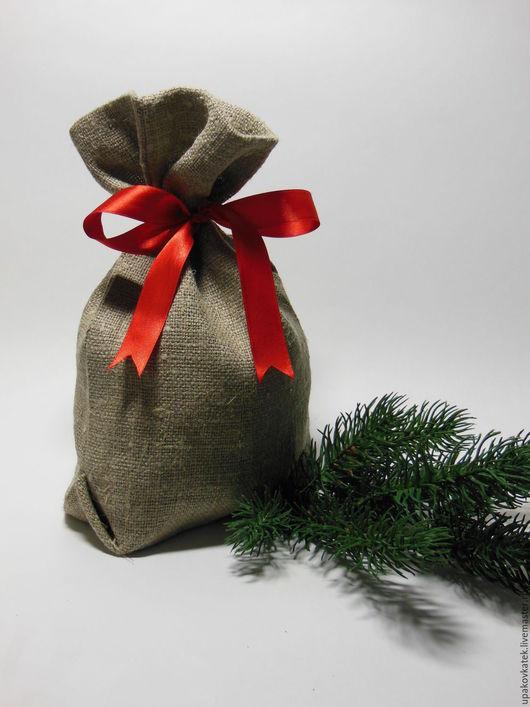Упаковка ручной работы. Ярмарка Мастеров - ручная работа. Купить Мешочек  для подарка. Handmade. Серый, новогодняя упаковка