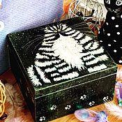 Для дома и интерьера ручной работы. Ярмарка Мастеров - ручная работа Котэ, шкатулка, декупаж. Handmade.