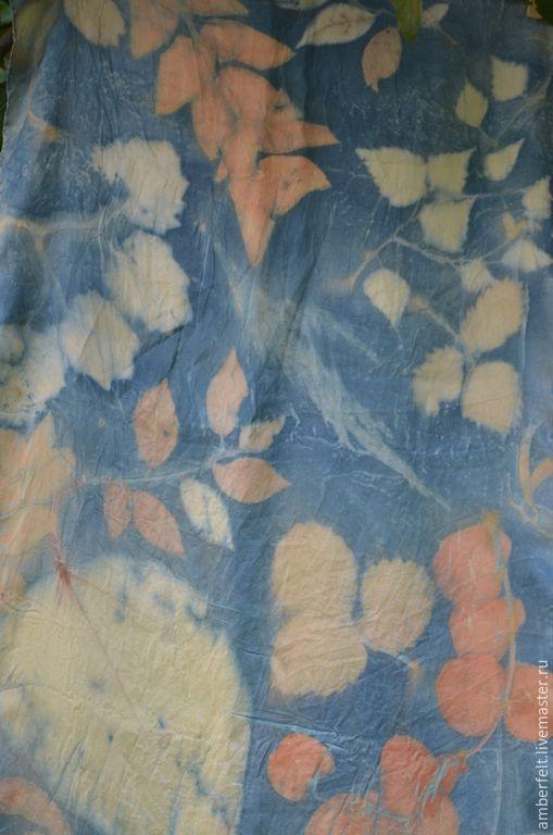 """Шарфы и шарфики ручной работы. Ярмарка Мастеров - ручная работа. Купить Шелковый шарф """"Индиго"""". Handmade. Синий, контактное крашение"""